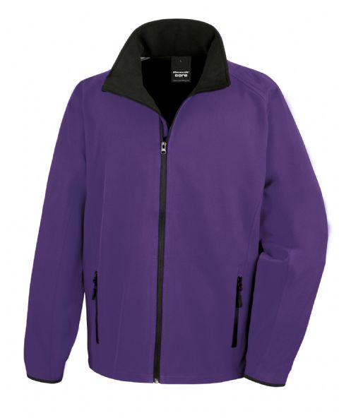 PURPLE WITH BLACK RESULT SOFT-SHELL JACKET
